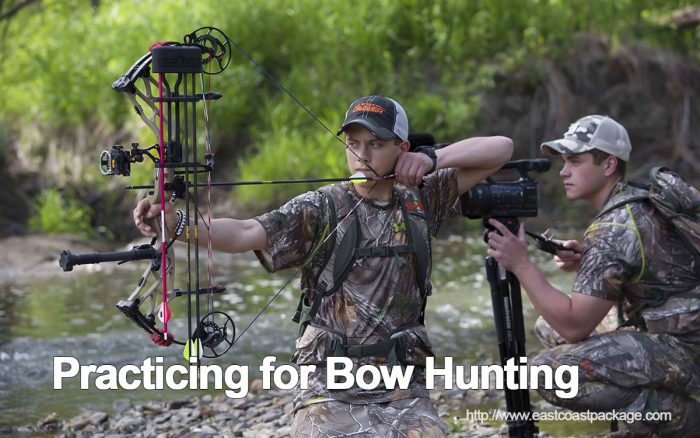 Practicing for Bow Hunting